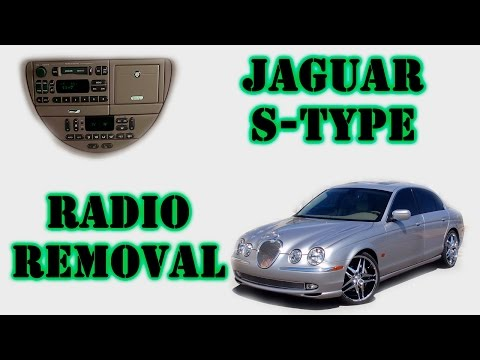 Jaguar S-Type half-moon radio removal