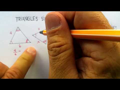 Triangles: Similarity Theorems (AA, SSS, SAS) Part One