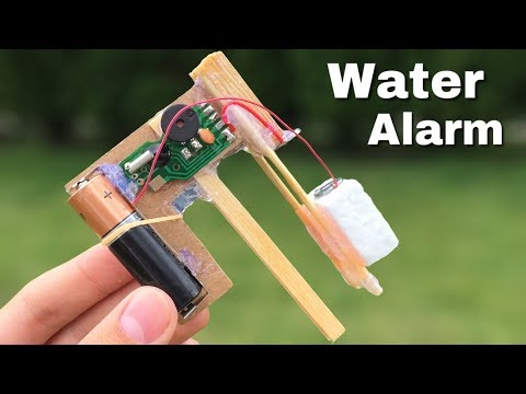 How to Make a Water Level indicator Alarm at Home - Simple Water Alarm