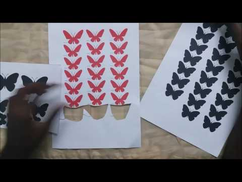DIY PROJECT2 3D BUTTERFLY WALL ART
