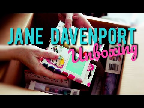 UNBOXING THE MOTHERLOAD OF JANE DAVENPORT ART SUPPLIES!!! Mermaid Markers, Watercolor, & MORE!