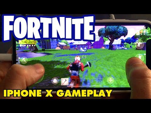FORTNITE Battle Royale on iPhone X - Gameplay