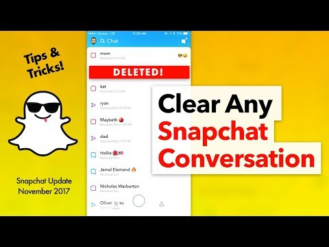 How to Clear Snapchat Conversation