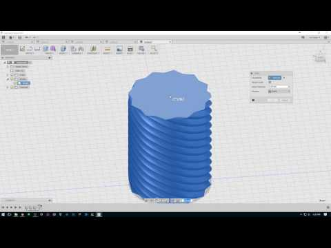How to Make 3d Printable Twist Containers in Fusion 360
