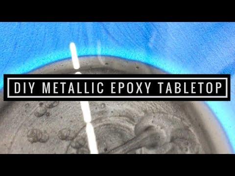 Epoxy your Tabletops with Leggari Products DIY Metallic Epoxy Kits