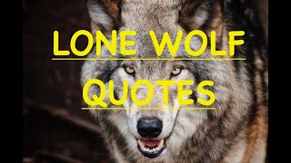 lone wolf quotes