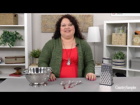How to Repurpose Kitchen Items Into Creative Decor - A Country Sampler DIY Video