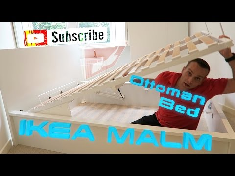 IKEA MALM OTTOMAN Double Bed Assembly
