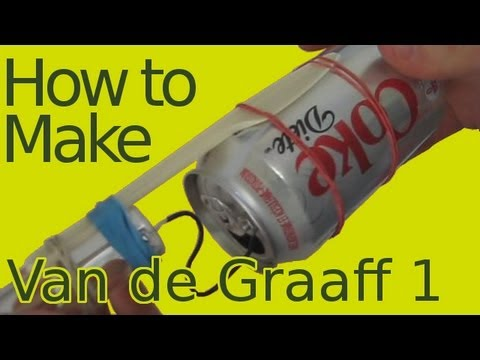 How to Make/Build a Van de Graaff Generator Part 1 (Homemade/DIY)