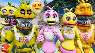 BRAND NEW CHICA ANIMATRONIC! FLOWER CHICA! (GTA 5 For Kids FNAF RedHatter)