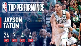 Jayson Tatum Lights Up TD Garden With A Game 5 Win vs The Cavs