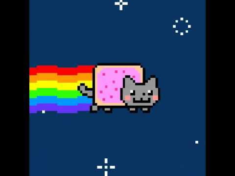 Insane Poptart Cat loop for 30mins ( Nyan Cat )
