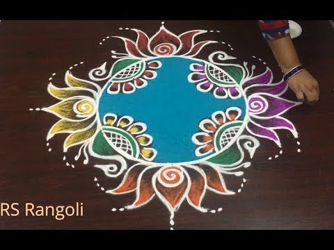 Happy New Year Rangoli 2018 92