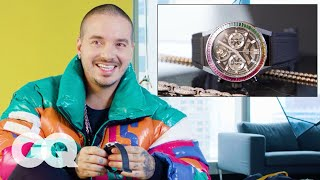 J Balvin Shows Off His Insane Jewelry Collection | GQ