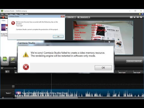"How to Fix Camtasia Error ""Failed to Create a Video Memory Resources"""