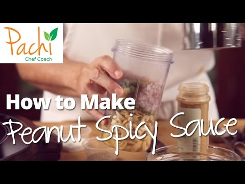 How to make PEANUT SPICY AJI from COLOMBIA in bullet type blender in sec 4 SUPER TASTY FOOD by Pachi