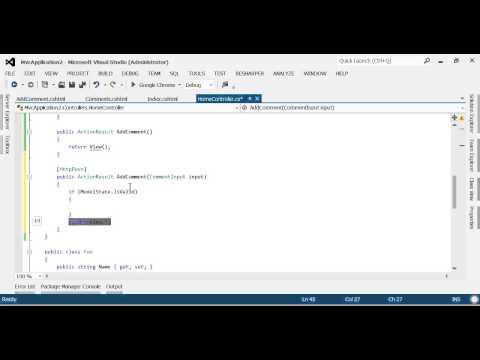 ASP.net MVC Basics Tutorial, and basic CRUD