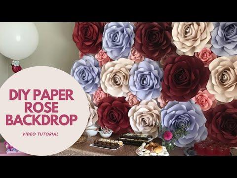 DIY Paper Rose Backdrop