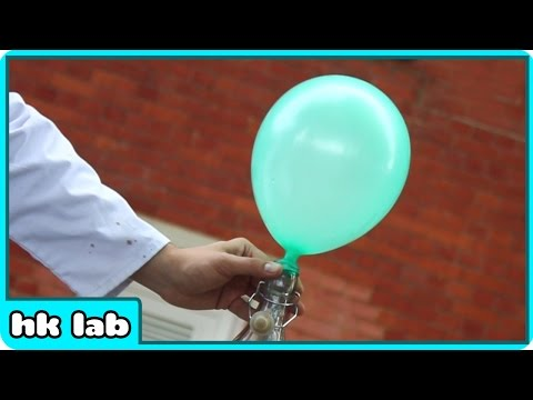 Look at this Balloon! Now Look How I Make it Float in air without Helium - HooplaKidzLab