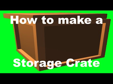 How to make a crate/chest in Unturned