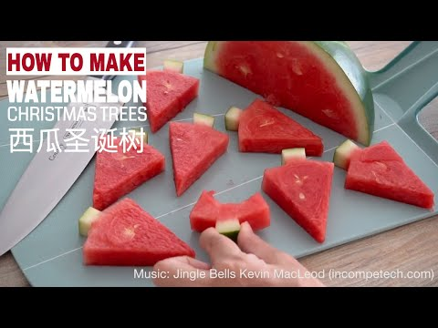 How to Cut Watermelon Christmas Trees