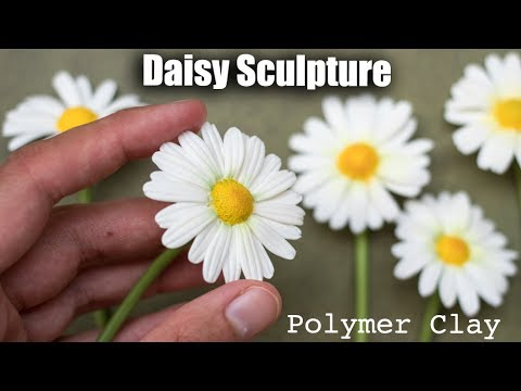 Polymer Clay Daisy Flower Tutorial // How to Sculpt with Clay