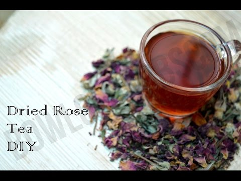 How To Make Rose Tea With Dried Dlossoms - DIY Recipe | Bowl Of Herbs