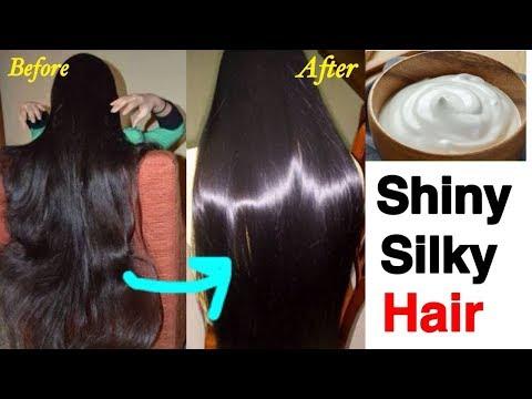 How to Get Shiny - Glossy - Silky hair   DIY Hair Shine Mask   JSuper Kaur
