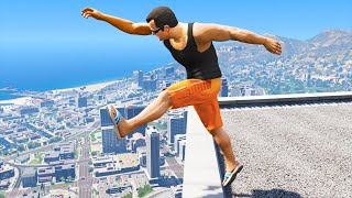 GTA 5: Jumping off Highest Buildings - Funny Moments #2