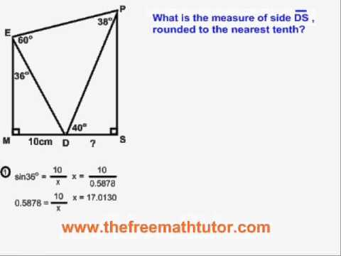 Trig Problems With All 5 Formulas - Example 3