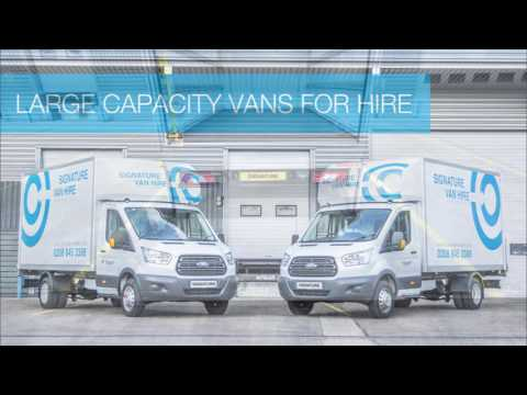 Signature Van Hire - Ford Luton Tail Lift Van