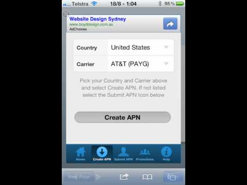 Changing APN settings on iPhone & iPad