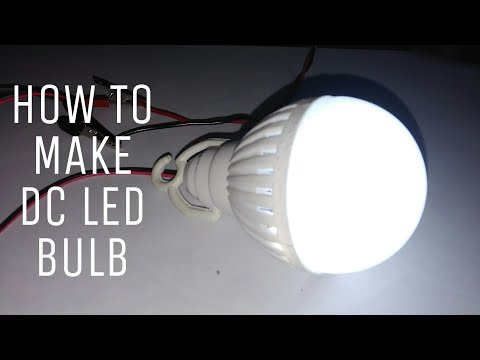 How to make a DC LED Bulb  4v/5v