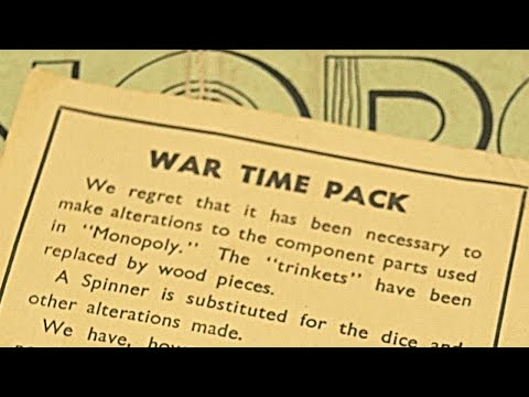 Unboxing a 1940s War Time Monopoly Edition