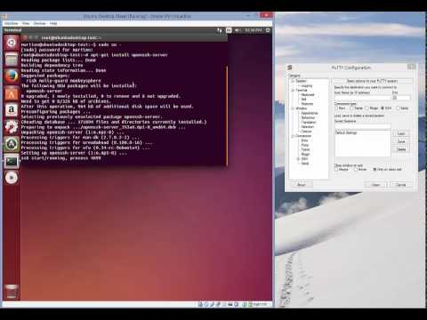 Install and configure SSH Server on Ubuntu Desktop