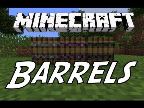 Minecraft Mod Showcase: Barrels Mod! (Store Thousand of items!)