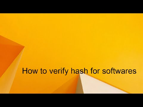 How to verify hash of a software | Windows 8