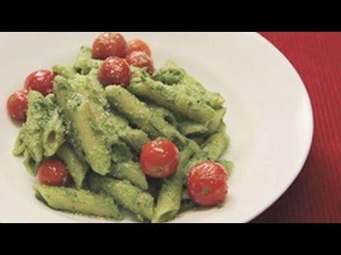 Penne Pasta In Pesto Sauce