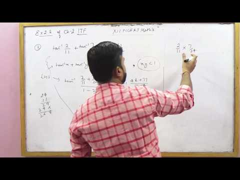 NCERT 12 Math's Ex 2.2 Ch 2  Inverse Trigonometric Functions hints & solutions (Part 1)