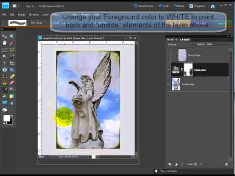 Layer Masking in Photoshop Elements 8 and Earlier