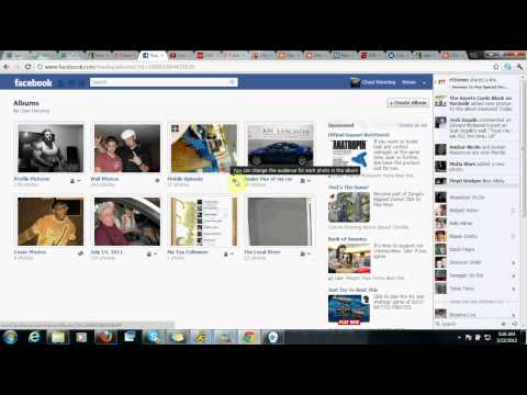 How to make your pictures private or public on facebook Timeline
