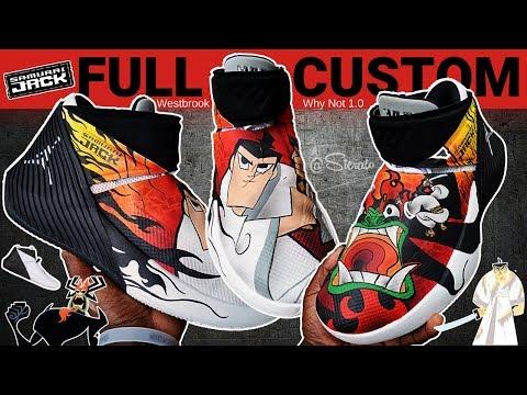 Full Custom   Samurai Jack Aku Westbrook Why Not 1.0 Jordan  by Sierato
