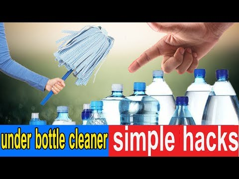How To Clean The Inside Of A Bottle Without A Brush | Magnet Sponge LifeHack | Hacks Duniya
