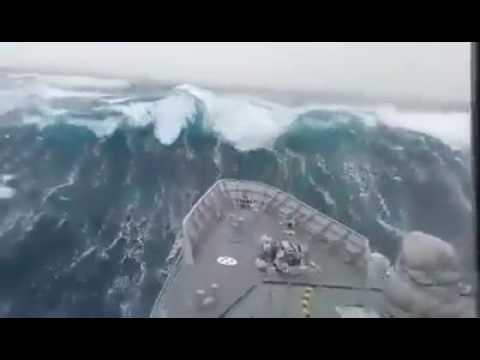 Rough sea video: A bad day on the bering sea