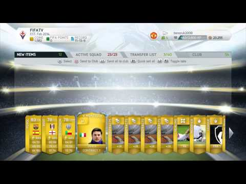 Fifa 14 | RARE GOLD PACK OPENING | 1 Of 4 #FUT #Fifa14 #HD #HDGaming #PS3 #PS3Gameplay #Elgato