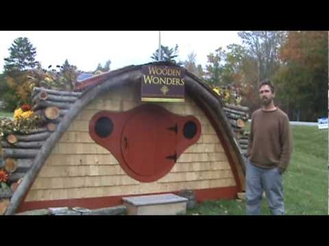 Tour a Wooden Wonders Hobbit Hole Playhouse