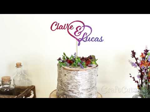 DIY Watercolor Painted Wood Cake Topper