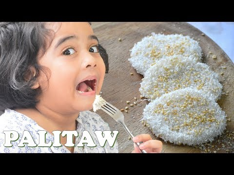 Super Easy PALITAW or Dila-Dila (Filipino Flattened Rice Cake) | It's More Fun in the Kitchen
