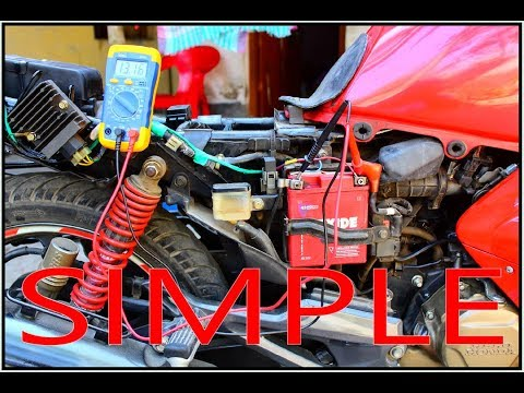 How to check your motorcycle charging system with multimeter.