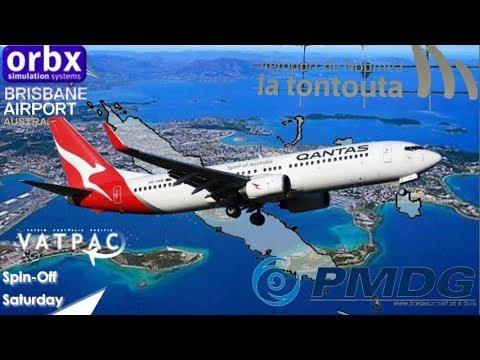 PMDG 737 in Vatpac Spillover Saturday, Brisbane to Noumea La Tontouta